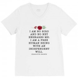 charlotte bronte for light V-Neck Tee | Artistshot