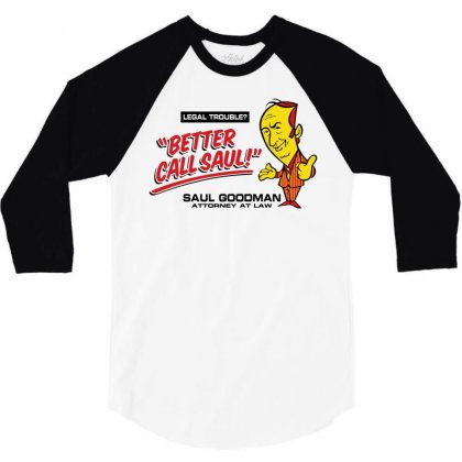 Better Call Saul 3/4 Sleeve Shirt Designed By Motleymind