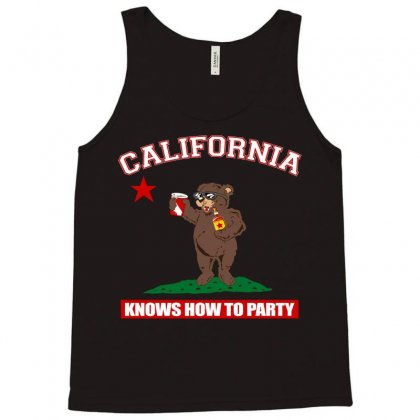 California Knows How To Party Tank Top Designed By Motleymind