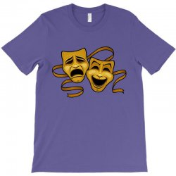 comedy tragedy masks gold t T-Shirt | Artistshot