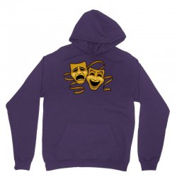 comedy tragedy masks gold t Unisex Hoodie | Artistshot