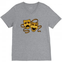 comedy tragedy masks gold t V-Neck Tee | Artistshot
