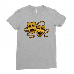 comedy tragedy masks gold t Ladies Fitted T-Shirt | Artistshot