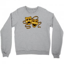 comedy tragedy masks gold t Crewneck Sweatshirt | Artistshot