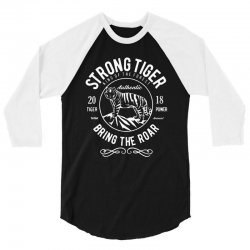strong tiger   king of the forest 3/4 Sleeve Shirt | Artistshot
