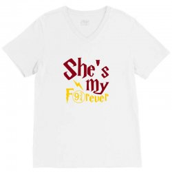 she is my forever V-Neck Tee | Artistshot