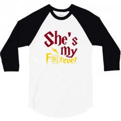 she is my forever 3/4 Sleeve Shirt | Artistshot