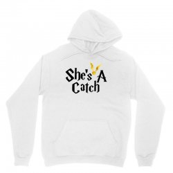 she is a catch for white Unisex Hoodie | Artistshot