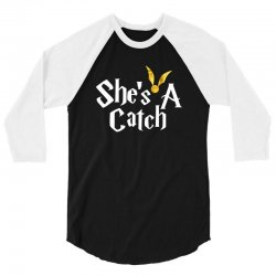 she is a catch for dark 3/4 Sleeve Shirt | Artistshot