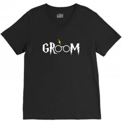 groom for dark V-Neck Tee | Artistshot