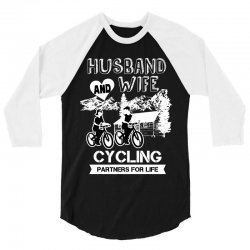 husband and wife cycling partners for life 3/4 Sleeve Shirt | Artistshot
