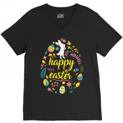 happy easter day egg V-Neck Tee | Artistshot