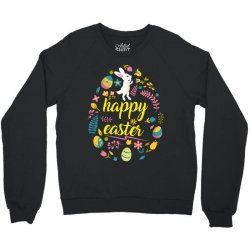 happy easter day egg Crewneck Sweatshirt | Artistshot