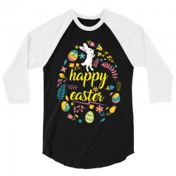 happy easter day egg 3/4 Sleeve Shirt | Artistshot