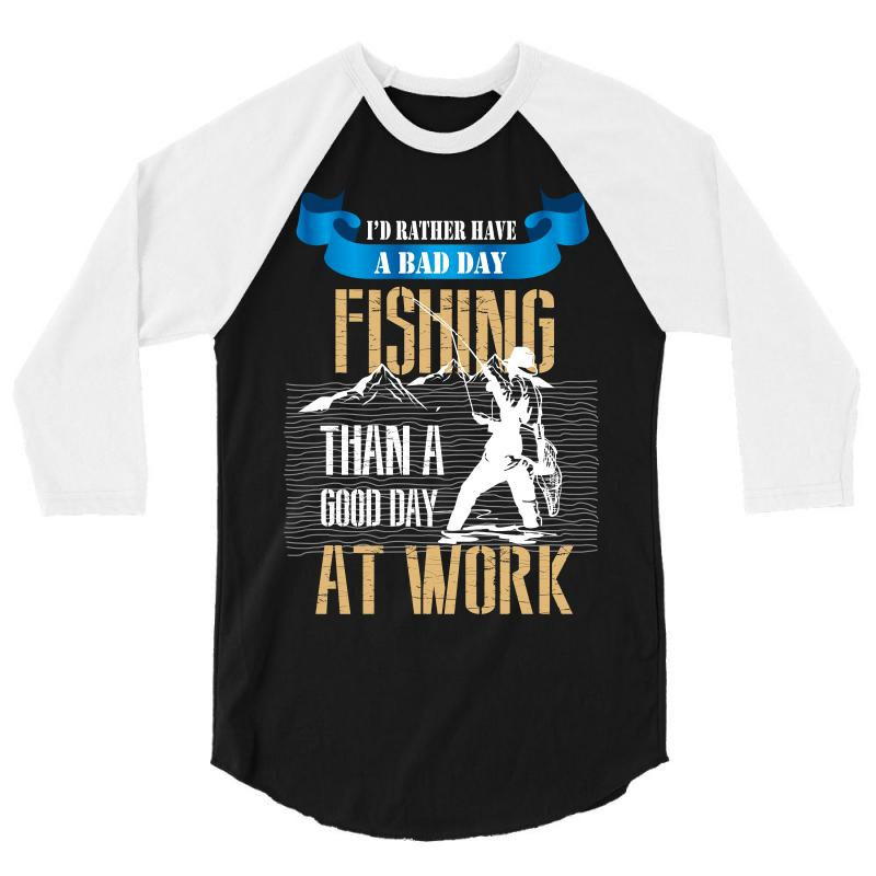 cda64145429f Custom Fishing Cool 3/4 Sleeve Shirt By Wizarts - Artistshot