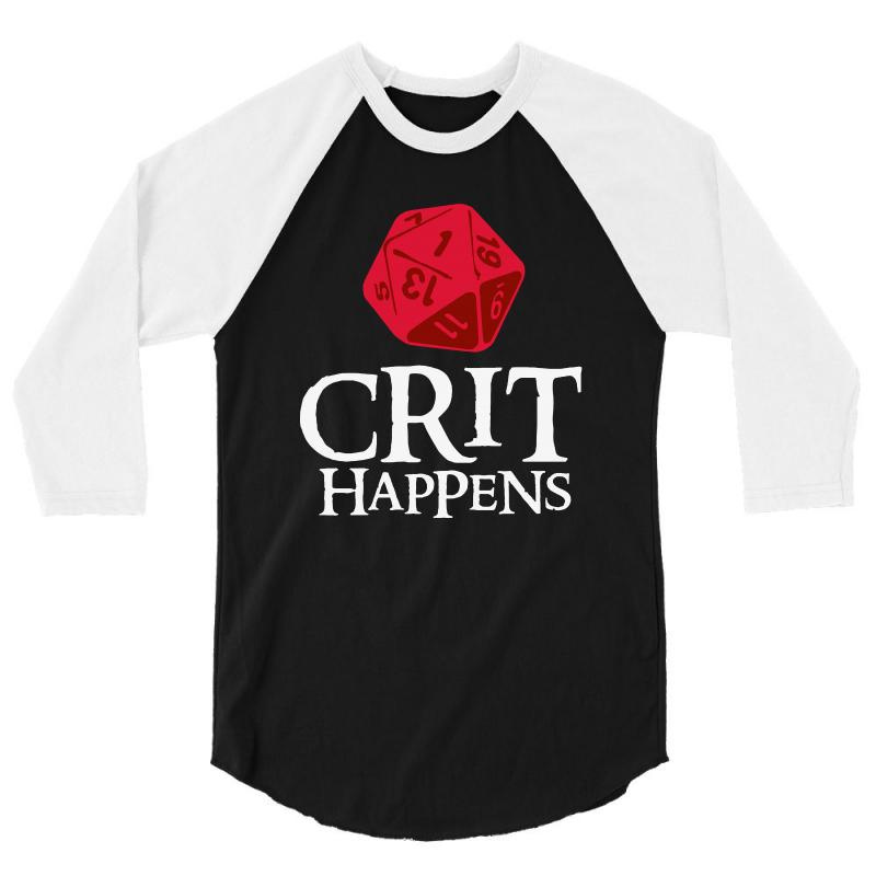 Crit Happens 3/4 Sleeve Shirt | Artistshot