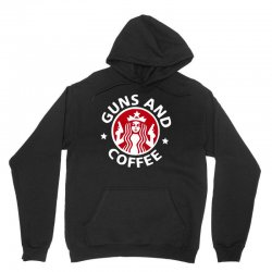 guns and coffee Unisex Hoodie | Artistshot