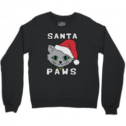 santa paws cat kitten ugly christmas Crewneck Sweatshirt | Artistshot
