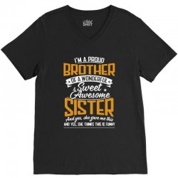 i'm a proud brother of a wonderful V-Neck Tee | Artistshot
