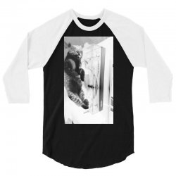 Cat on the turntable 3/4 Sleeve Shirt | Artistshot