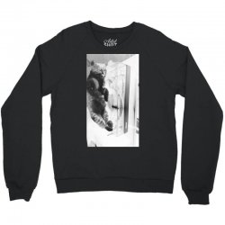 Cat on the turntable Crewneck Sweatshirt | Artistshot