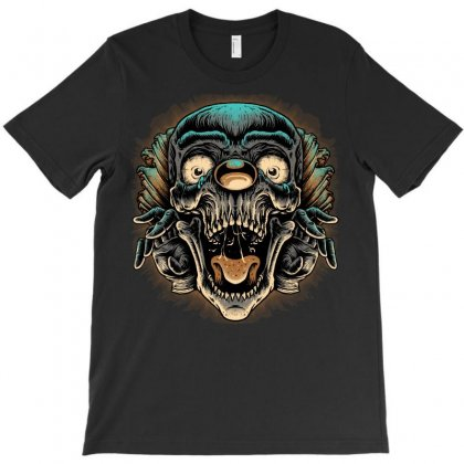 Scary Clown T-shirt Designed By Quilimo