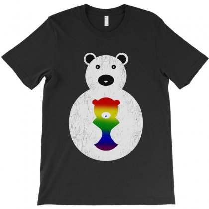 Mom Hugs Bear T-shirt Designed By Ninabobo