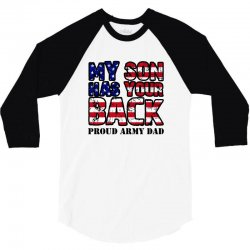 my son has your back for light 3/4 Sleeve Shirt   Artistshot