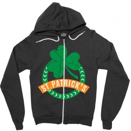 St Patrick Day Zipper Hoodie Designed By Sengul