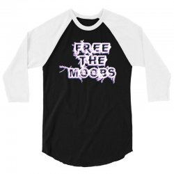free the moobs for dark 3/4 Sleeve Shirt | Artistshot