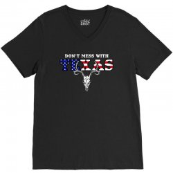 don't mess with texas for dark V-Neck Tee | Artistshot