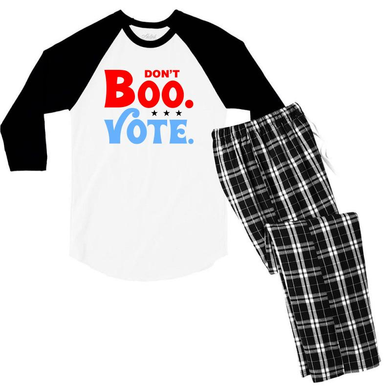 Don't Boo Vote For Light Men's 3/4 Sleeve Pajama Set | Artistshot