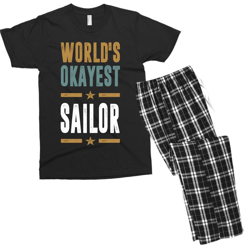 Okayest Sailor Men's T-shirt Pajama Set | Artistshot