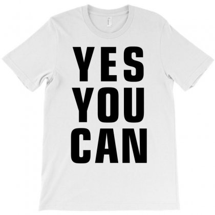Yes You Can (black) T-shirt Designed By Meza Design