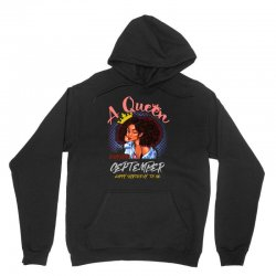 a queen was born in september Unisex Hoodie | Artistshot