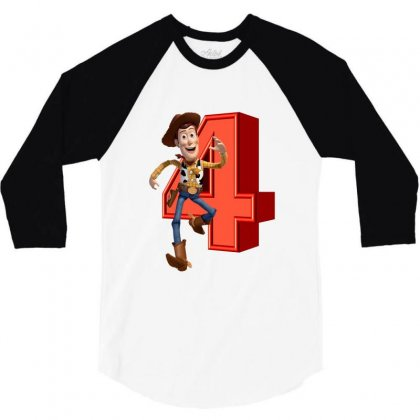 Sheriff Woody Toy Story 4 3/4 Sleeve Shirt Designed By Zeynepu