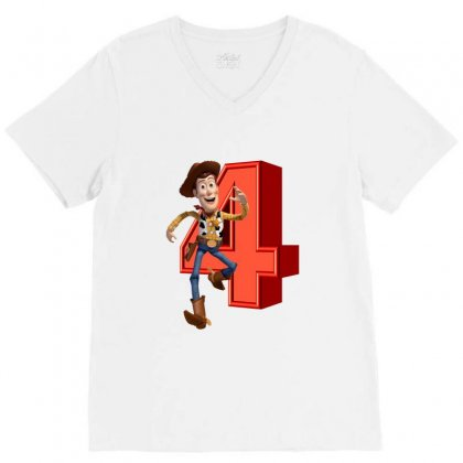 Sheriff Woody Toy Story 4 V-neck Tee Designed By Zeynepu