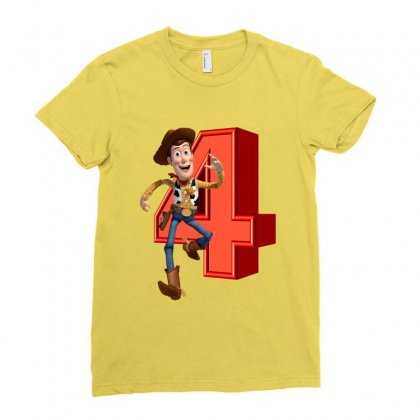 Sheriff Woody Toy Story 4 Ladies Fitted T-shirt Designed By Zeynepu