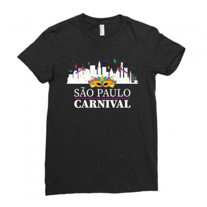 Sao Paulo Carnival For Dark Ladies Fitted T-shirt Designed By Zeynepu