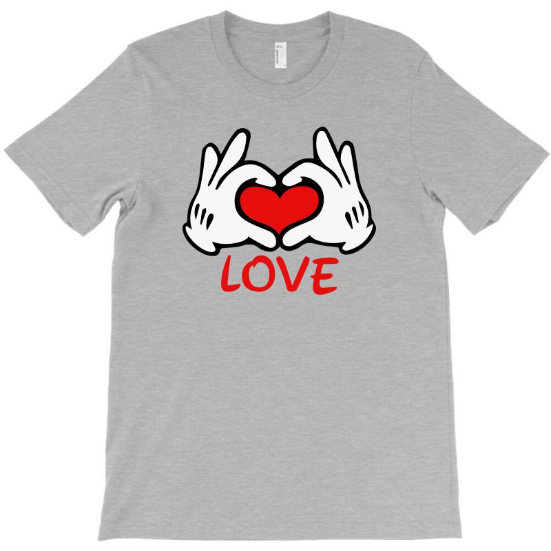 Mickey Mouse Hand Love T-shirt | Artistshot