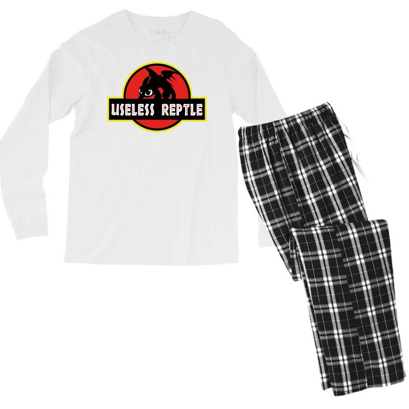 Useless Reptle Men's Long Sleeve Pajama Set | Artistshot
