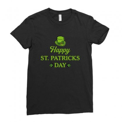 Happy St Patricks Day Ladies Fitted T-shirt Designed By Nurbetulk