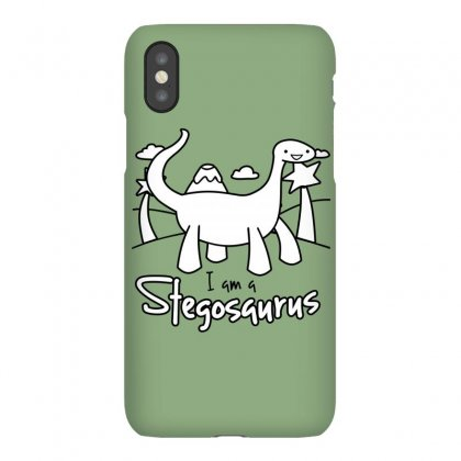 I Am A Stegosaurus Iphonex Case Designed By Silicaexil