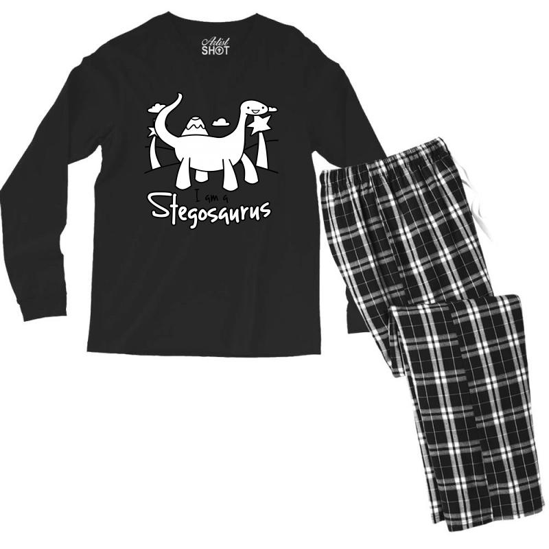 I Am A Stegosaurus Men's Long Sleeve Pajama Set | Artistshot