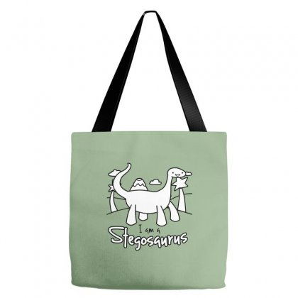 I Am A Stegosaurus Tote Bags Designed By Silicaexil
