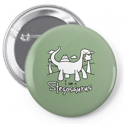 I Am A Stegosaurus Pin-back Button Designed By Silicaexil