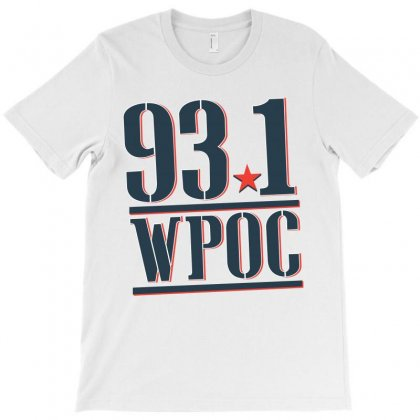 93.1 Wpoc Baltimore Country Station T-shirt Designed By Parashiel