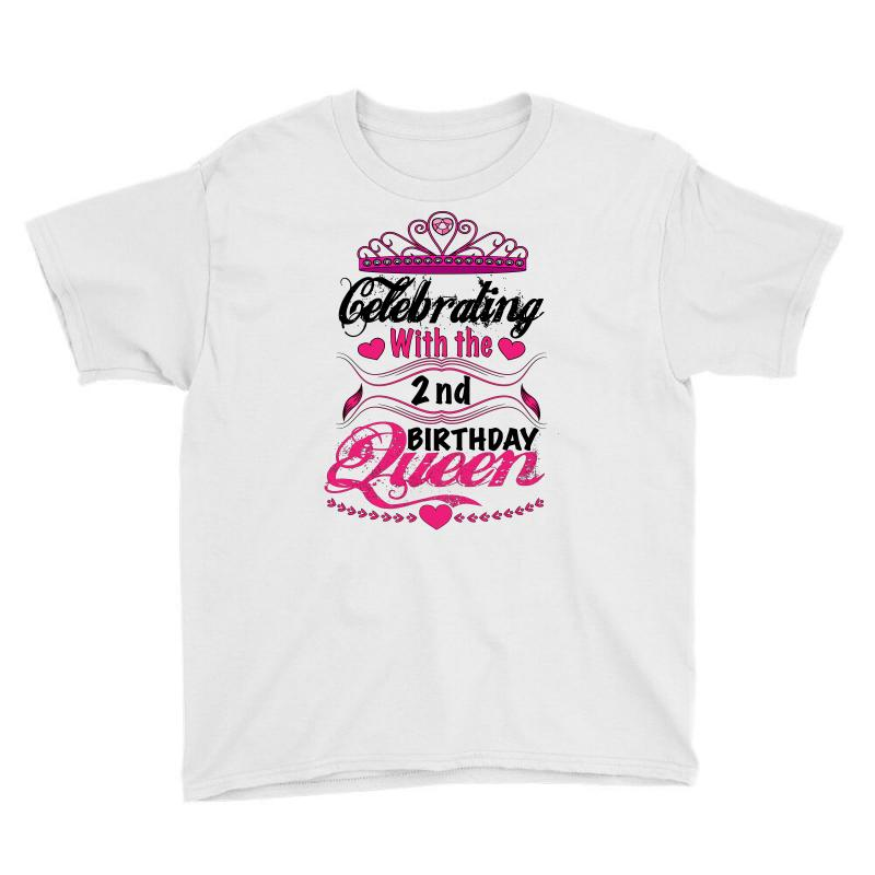 Celebrating With The 2nd Birthday Queen Youth Tee