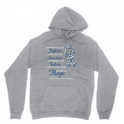 supporting the fighters admiring the survivors Unisex Hoodie | Artistshot