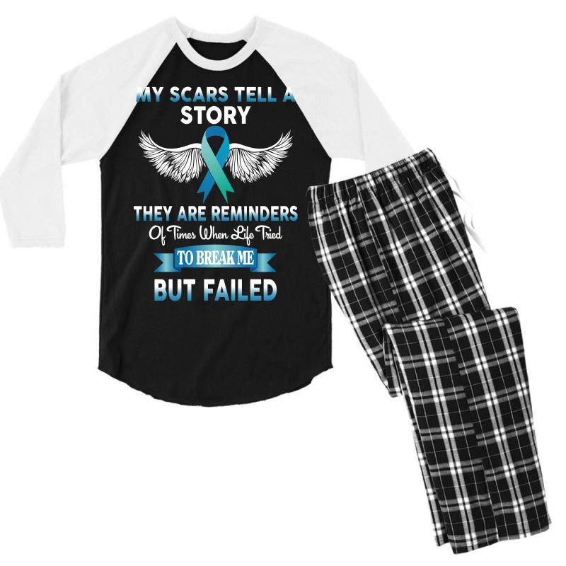 My Scars Tell A Story Men's 3/4 Sleeve Pajama Set | Artistshot